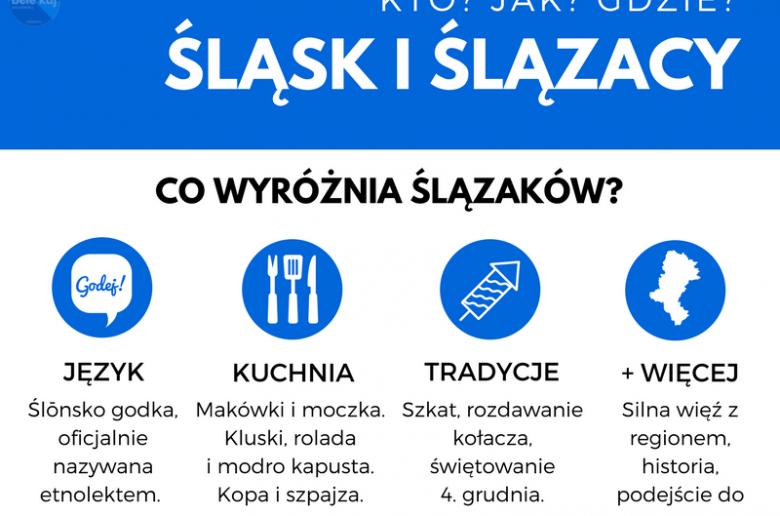 bele kaj, blog po śląsku, infografika - Śląsk i Ślązacy