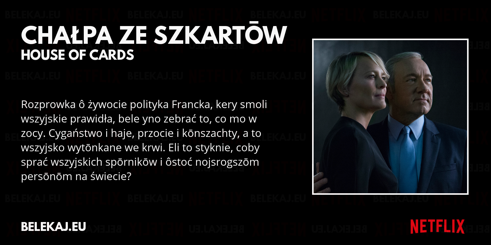 House of Cards - Netflix po śląsku