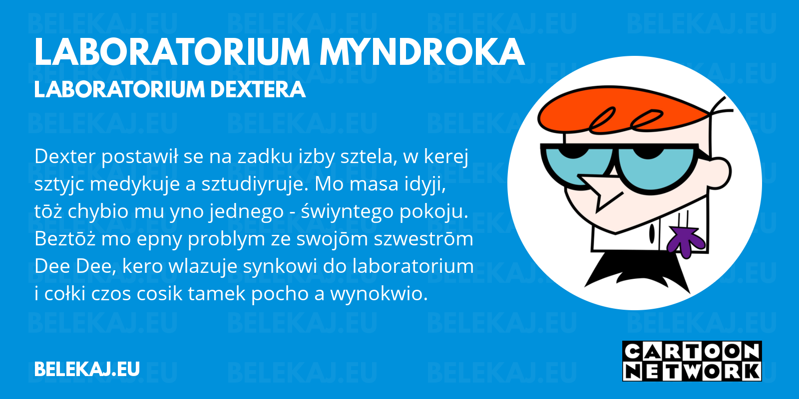 Laboratorium Dextera, Cartoon Network po śląsku - blog bele kaj